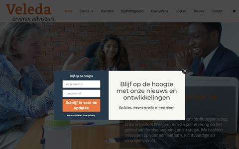 Screenshot of Home Page veleda.nl - Homepagina - Veleda - captured Dec. 20, 2018