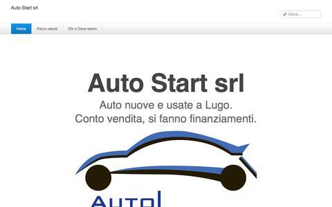 Screenshot of Home Page autostartsrl.it - Auto Start srl - Home - captured Sept. 30, 2014
