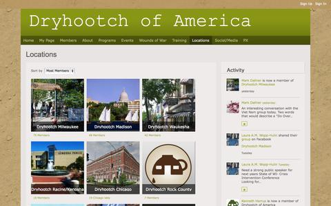 Screenshot of Locations Page dryhootch.org - Locations - Dryhootch of America - captured Oct. 5, 2014