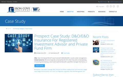 Screenshot of Case Studies Page ironcoveins.com - Case Study | Insurance & Risk Management - captured Nov. 6, 2016