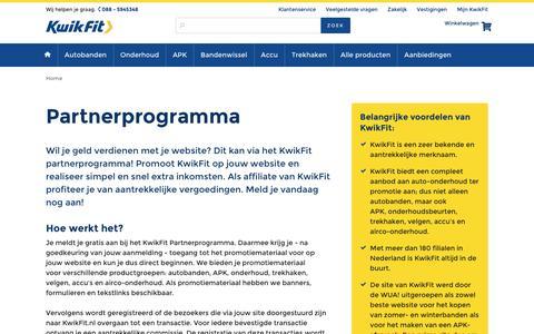 Screenshot of kwik-fit.nl - Partnerprogramma - captured April 14, 2016