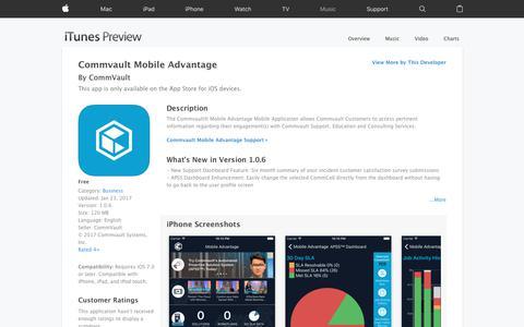 Commvault Mobile Advantage on the App Store
