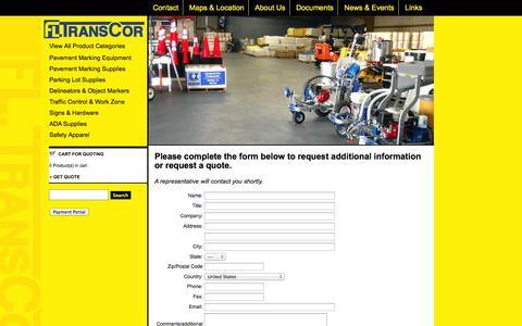 Screenshot of Contact Page fltranscor.com - Contact Florida Transcor - captured Oct. 6, 2014