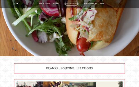 Screenshot of Home Page franktuary.com - Home - Franktuary - captured Feb. 2, 2016