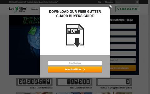 Screenshot of Home Page leaffilter.com - LeafFilter Gutter Guards | LeafFilter - captured May 10, 2016