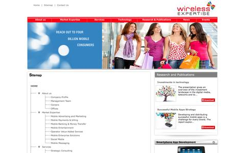 Screenshot of Site Map Page wirelessexpertise.com - ::Wireless Expertise::Sitemap - captured Oct. 26, 2014