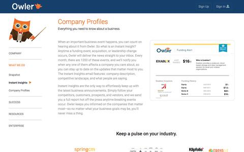 Owler: instant insights