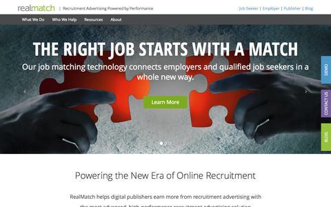 Job Board Software | Recruitment Ad Network - RealMatch