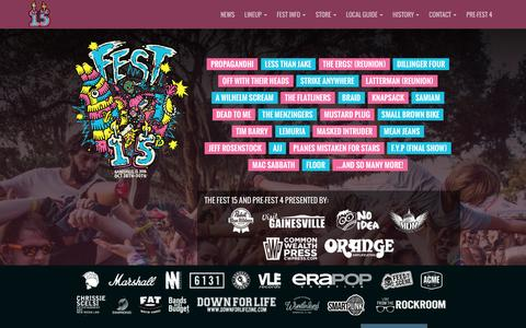 Screenshot of Contact Page thefestfl.com - The Fest 15 » Contact - captured Dec. 3, 2016