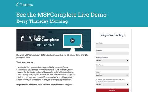 MSPComplete Live Demo