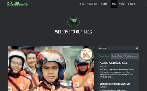 Screenshot of Blog galeriwebsite.com - Blog   Jasa Pembuatan Website   Jasa SEO Murah - captured Oct. 30, 2018