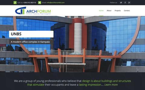 Screenshot of Home Page archforumltd.com - Welcome | ArchForum - captured Feb. 6, 2016