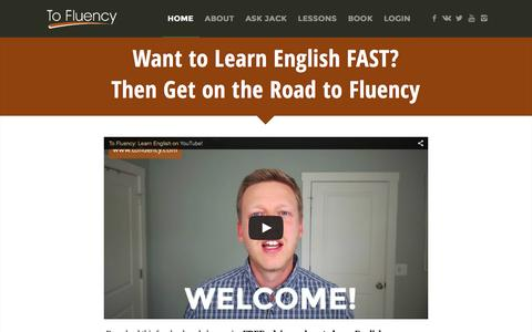 Screenshot of Home Page tofluency.com - Become Fluent in English | To Fluency - captured March 6, 2016