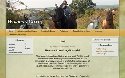 Screenshot of Home Page working-goats.de - Home - Working Goats - captured Oct. 29, 2018