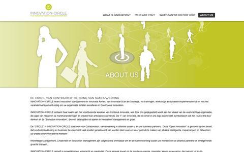 Screenshot of About Page innovation-circle.nl - Uw Innovation Management professioneel begeleid door INNOVATION-CIRCLE - captured Sept. 30, 2014