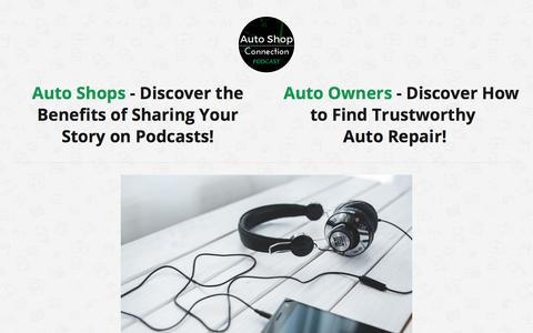 Screenshot of About Page autoshopconnection.com - About - Auto Shop Connection - captured Oct. 9, 2017