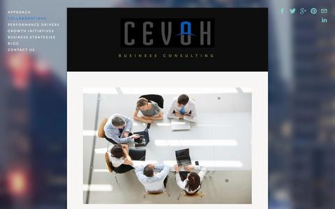 Screenshot of Menu Page cevoh.com - Collaborations — CEVOH - captured Sept. 26, 2014