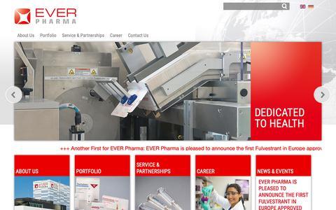 Screenshot of Home Page everpharma.com - EVER Pharma - captured Dec. 13, 2018