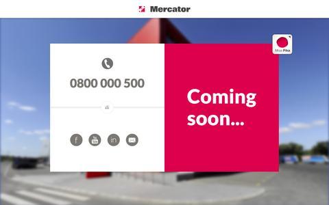 Screenshot of Home Page mercator.rs - Mercator - captured Jan. 16, 2016