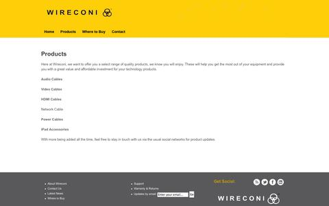 Screenshot of Products Page wireconi.com - View our Products | Wireconi UK - captured Oct. 1, 2014