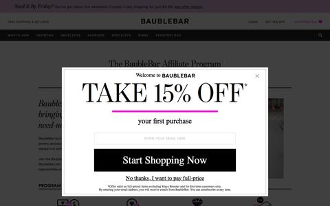Affiliate Program   BaubleBar