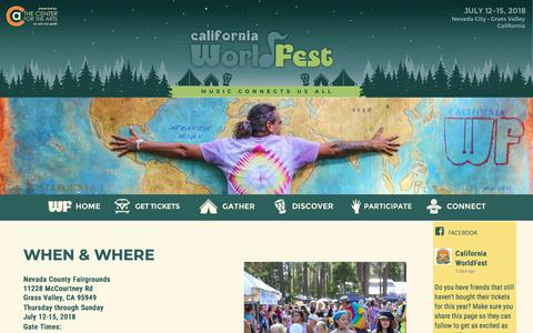 Screenshot of FAQ Page Maps & Directions Page worldfest.net - GATHER - worldfest.net - captured Feb. 5, 2018