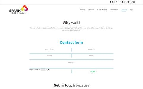 Screenshot of Contact Page sparkinteract.com.au - Spark Interact | Contact Us - captured May 13, 2017