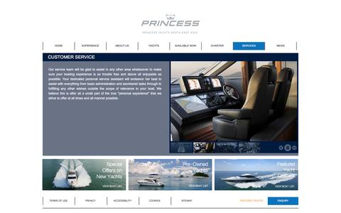 Screenshot of Support Page princessyachtssea.com - Customer Service - Princess Yachts Southeast Asia - Official Distributor of Princess Yachts - captured Jan. 31, 2016