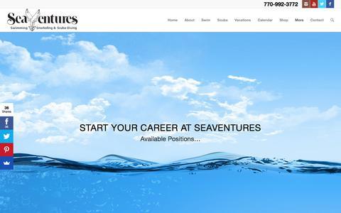 Screenshot of Jobs Page seaventures.com - Career Page | SeaVentures - captured June 11, 2017