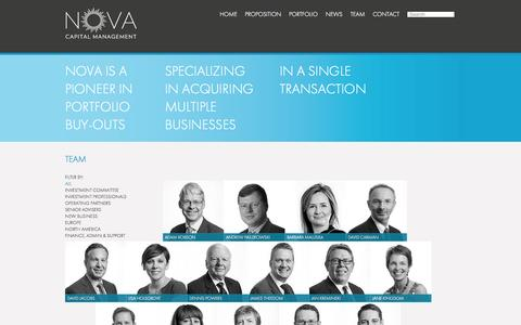 Screenshot of Team Page nova-cap.com - Team – NOVA – Capital Management - captured Oct. 7, 2014