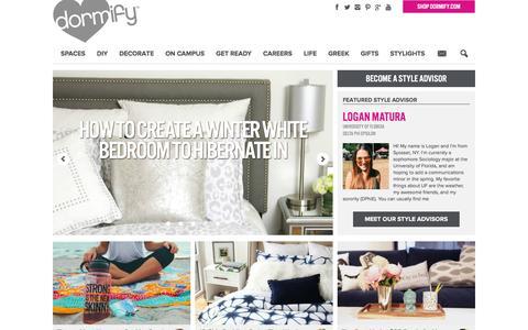 Screenshot of Blog dormify.com - College Fashion + Dorm Decorating Blog | Dorm Living - captured Feb. 20, 2016