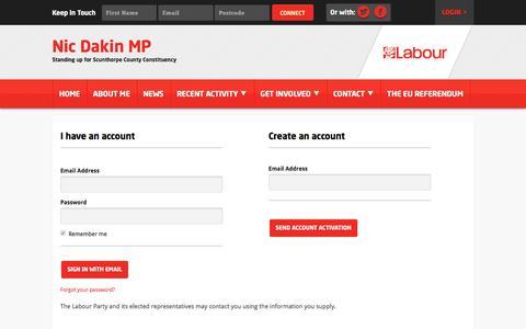 Screenshot of Login Page nationbuilder.com - Sign in - captured May 21, 2016