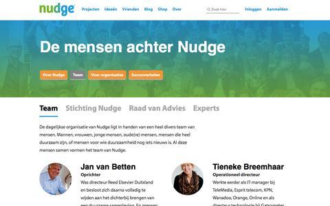 Screenshot of Team Page nudge.nl - Nudge team - captured Jan. 23, 2016