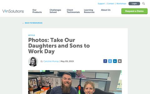 Screenshot of Blog vinsolutions.com - VinSolutions - Photos: Take Our Daughters and Sons to Work Day - captured Dec. 3, 2019