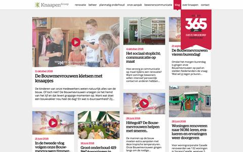 Screenshot of Blog knaapen.nl - KnaapenGroep: blogs over renovatie, beheer en onderhoud - captured Oct. 15, 2018