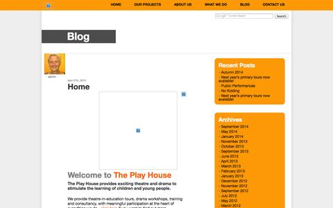 Screenshot of Blog theplayhouse.org.uk - Blog — The Play House - captured Oct. 9, 2014
