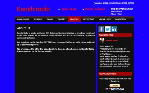 Screenshot of About Page kanshiradio.com - About Us   Kanshiradio - captured Oct. 6, 2014