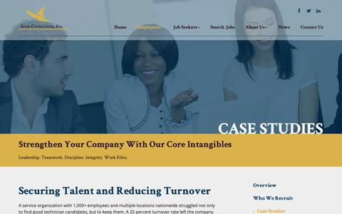 Screenshot of Case Studies Page soarcareers.com - Case Studies - SOAR Consulting - captured Oct. 1, 2018