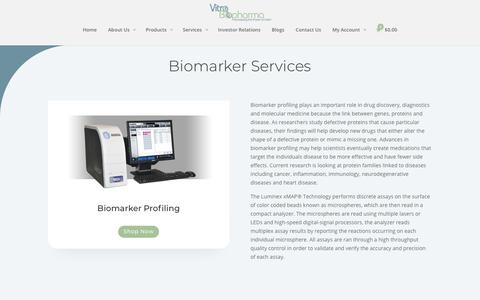 Screenshot of Services Page vitrobiopharma.com - Services - Vitro Biopharma - captured Nov. 7, 2018