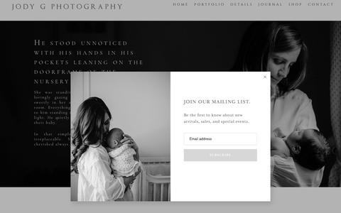 Screenshot of Pricing Page jodygphotography.com - preserving family memories - Family Photography - Serving Charlotte, Asheville, NC Knoxville TN and Greenville SC - captured Jan. 15, 2020