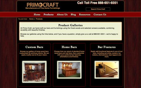 Screenshot of Products Page primocraft.com - Product Galleries Primo Craft | Blaine Minnesota - captured Oct. 3, 2014