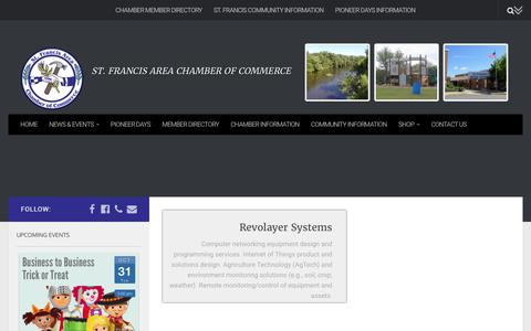 Screenshot of Services Page stfrancischamber.org - Services – St. Francis Area Chamber of Commerce - captured Oct. 26, 2017
