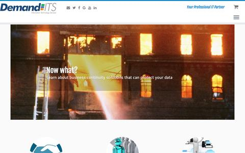 Screenshot of Home Page demand-its.com - Demand ITS Inc. - captured June 4, 2017