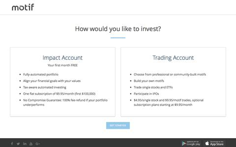 How would you like to invest