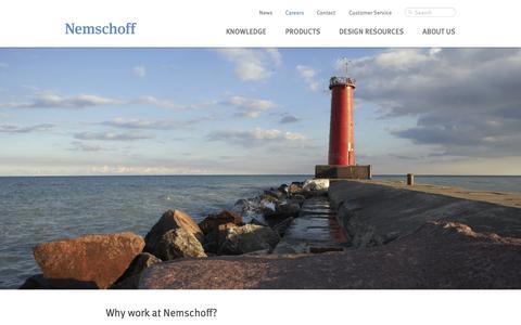 Screenshot of Jobs Page nemschoff.com - Careers | Nemschoff - captured Oct. 27, 2014