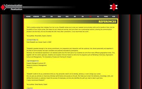 Screenshot of Testimonials Page communication-realization.com - RE - Communication-Realization - captured Sept. 25, 2018