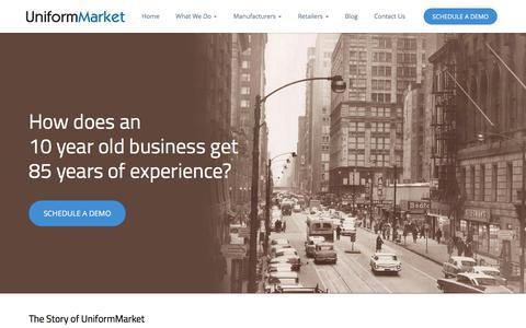 Screenshot of About Page uniformmarket.com - About US - Uniform E-Commerce Platform Provider - UniformMarket - captured Feb. 26, 2016