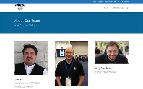 Screenshot of Team Page pocketinformant.com - Who We are - Pocket Informant - captured March 12, 2017