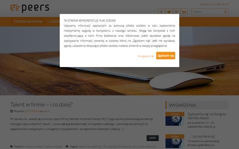 Screenshot of Blog e-peers.com - kompetencje odczarowane | e-peers bloguje - captured Oct. 27, 2014