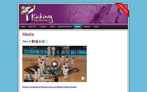 Screenshot of Press Page kickingthespectrum.com - Kicking The Spectrum Media featured performance - captured Aug. 9, 2016